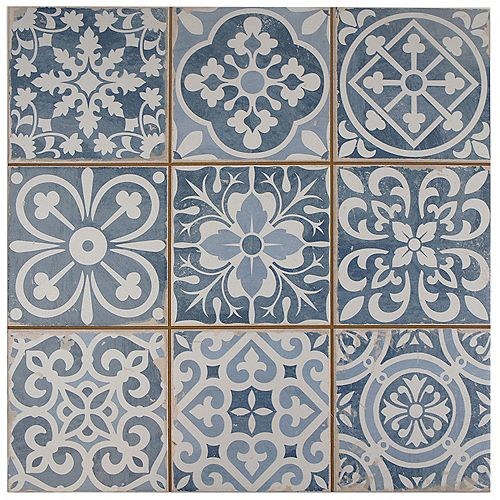 Faenza Azul 13-inch x 13-inch Ceramic Floor and Wall Tile (12.2 sq. ft. / case)