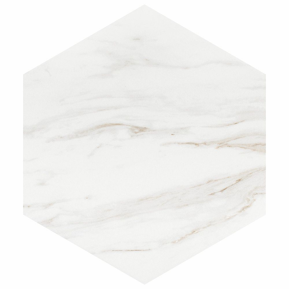 eterno carrara hex 8 5 8 inch x 9 7 8 inch porcelain floor and wall tile 11 56 sq ft case