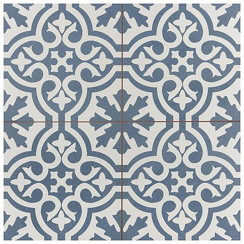 Berkeley Blue 17 5/8-inch x 17 5/8-inch Ceramic Floor and Wall Tile (11.02 sq. ft. / case)