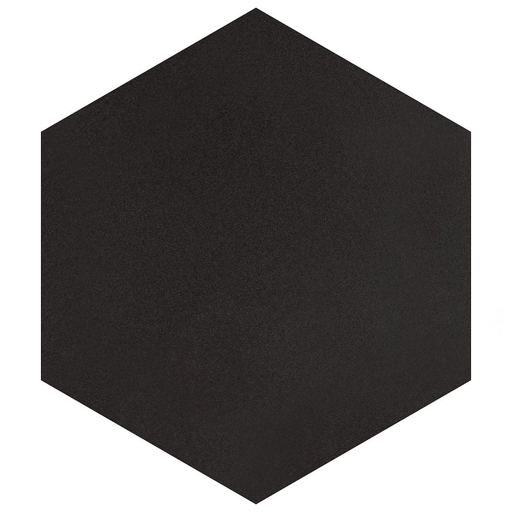 Merola Tile Textile Hex Black 8-5/8-inch x 9-7/8-inch Porcelain Floor and Wall Tile (11.56 sq. ft. / case)