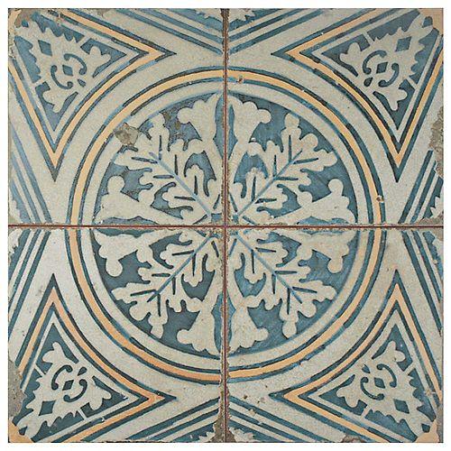 Carreau en céramique pour sol/mur Kings Flatlands 17 5/8 po x 17 5/8 po (11,02 pi2/boîte)