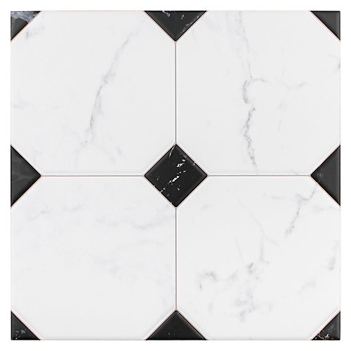 Betera Jet Blanco 13-1/8-inch x 13-1/8-inch Ceramic Floor and Wall Tile (11.18 sq. ft. / case)