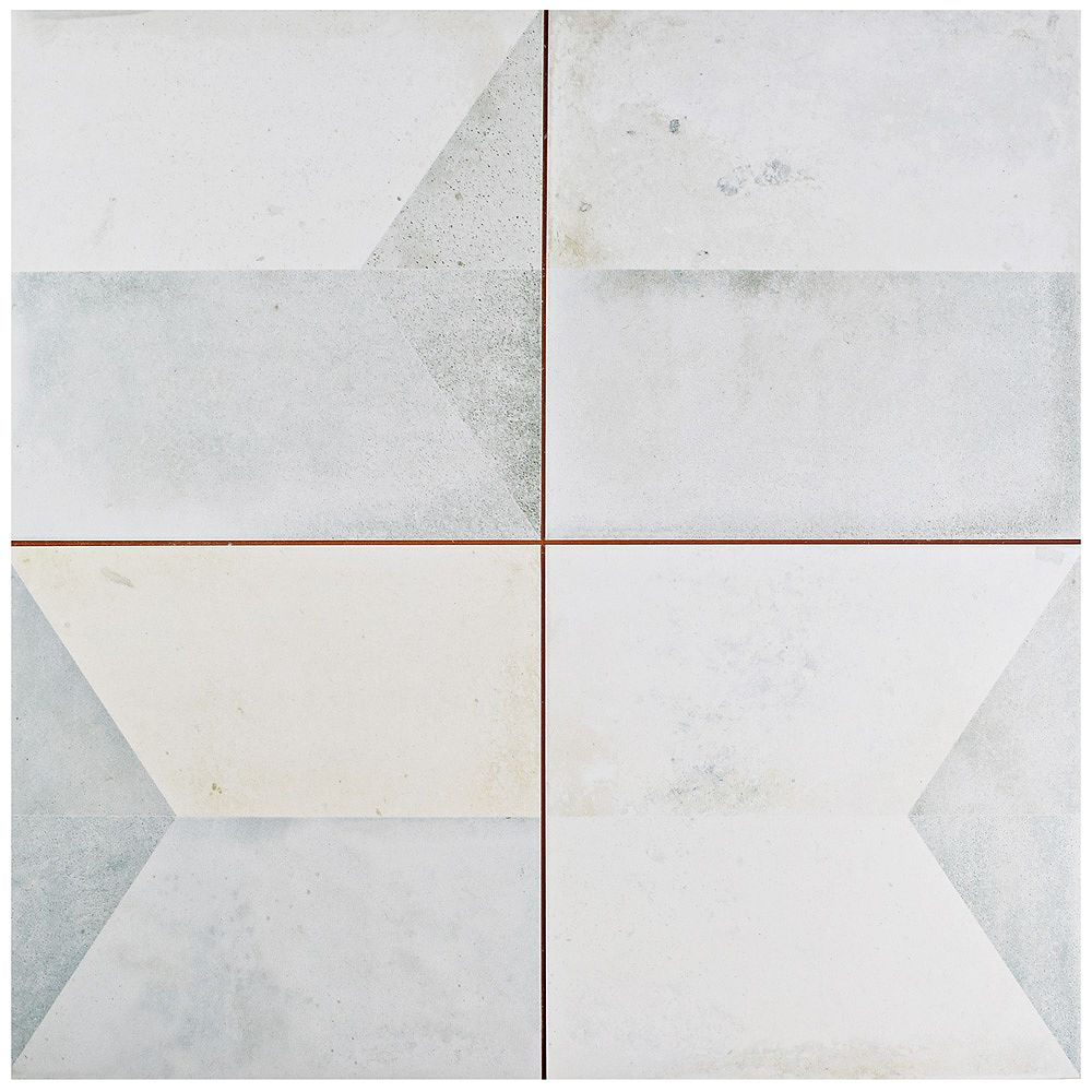 Merola Tile Geomento 17 5/8-inch x 17 5/8-inch Ceramic Floor and Wall Tile (11.02 sq. ft. / case)