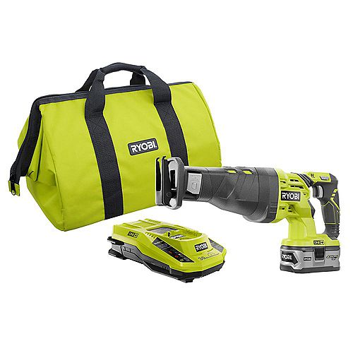 18V ONE+ Reciprocating Saw Kit with Lithium Plus 4.0Ah Battery, Charger and Case