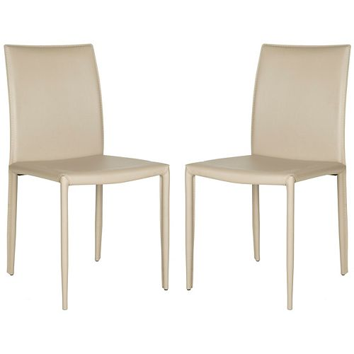 Safavieh Karna Dining Chair in Light Grey (Set of 2)