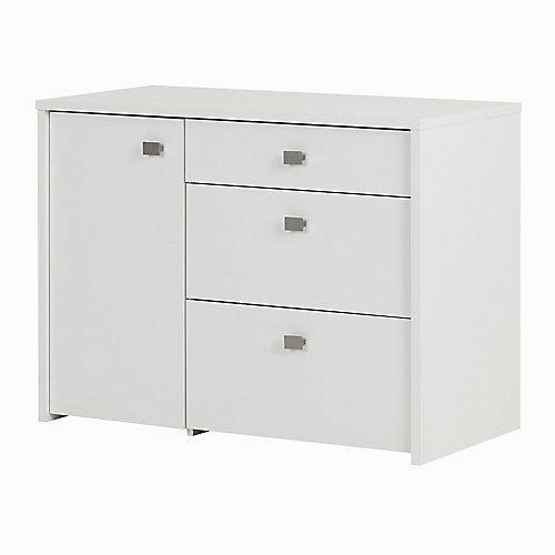 Meuble de rangement avec tiroir classeur Interface, Blanc solide