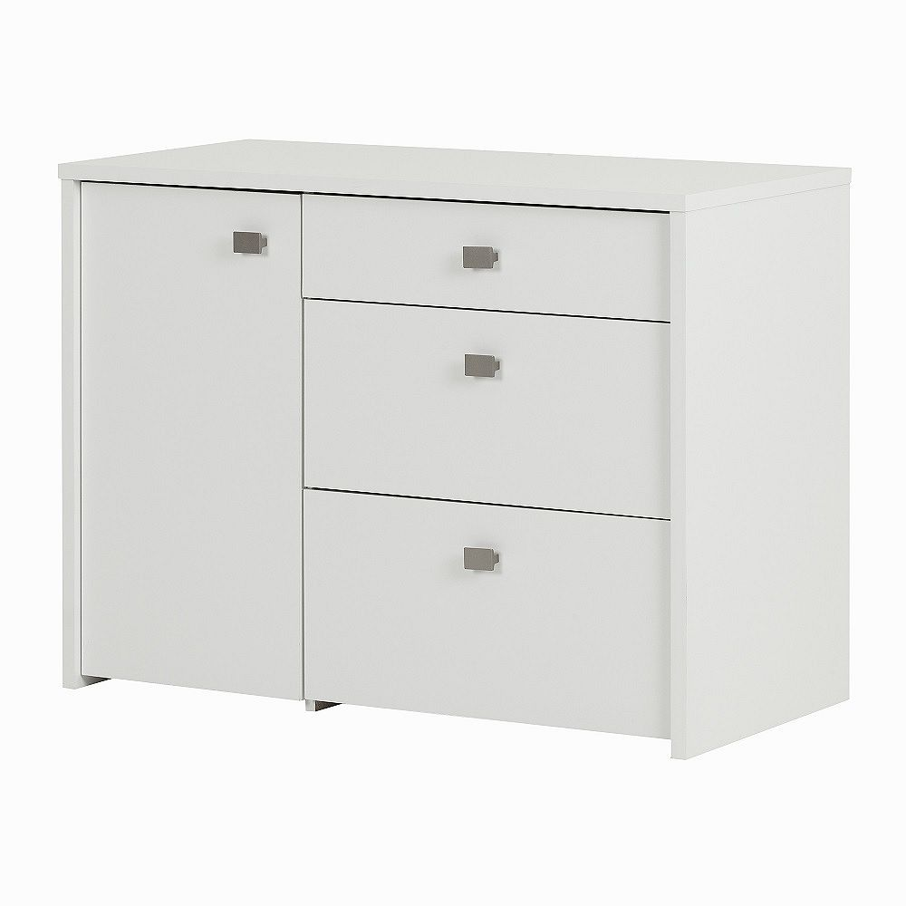 South Shore Interface Storage Unit with File Drawer, Pure White