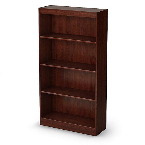 Axess 4-Shelf Bookcase, Royal Cherry
