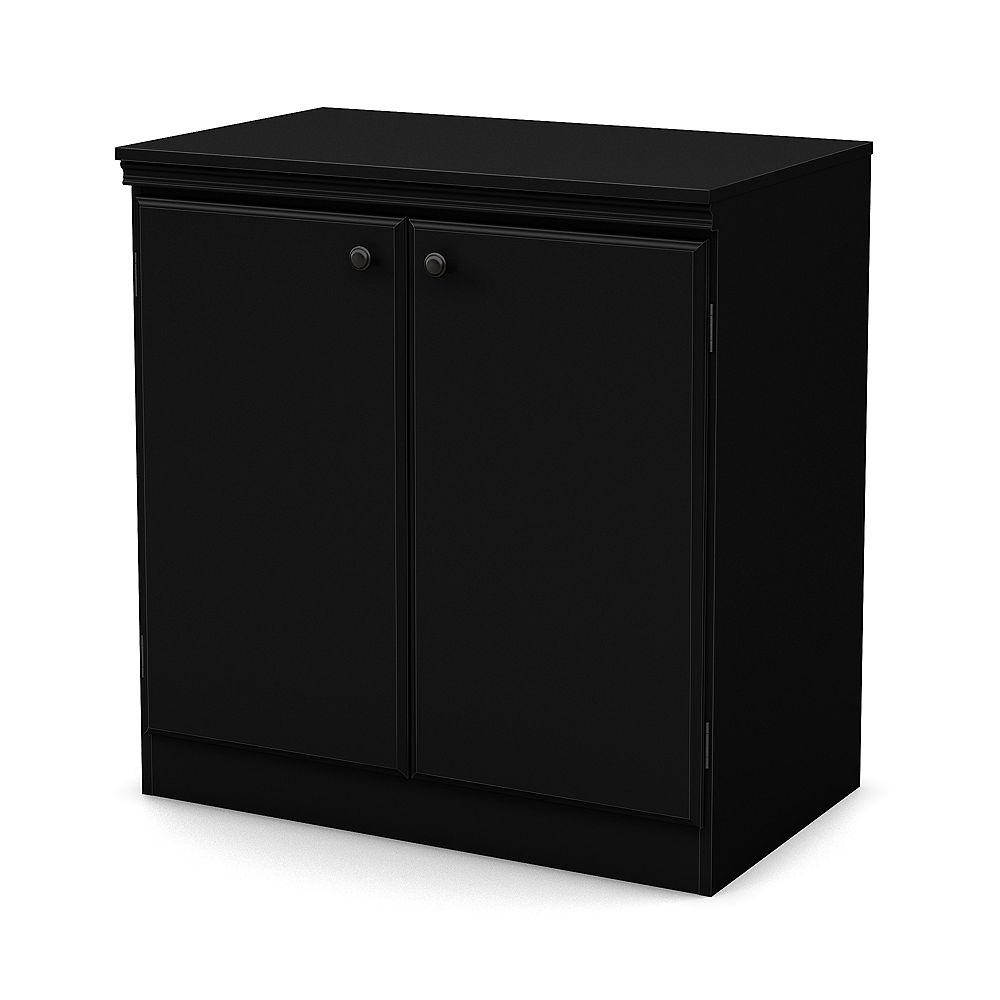 Morgan Small 12-Door Storage Cabinet, Pure Black