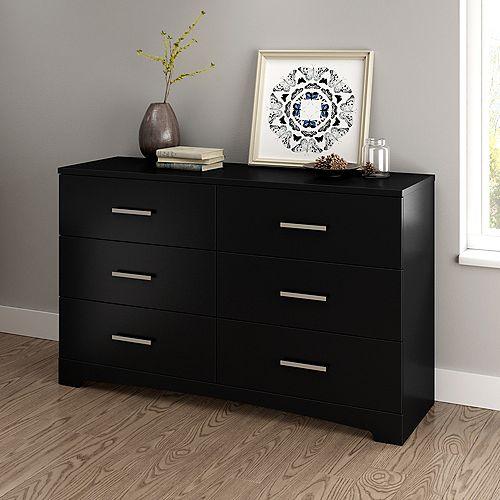 Gramercy 6-Drawer Double Dresser, Pure Black