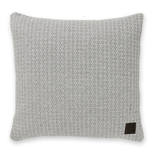 Lodge Gray Quilted Throw Pillow
