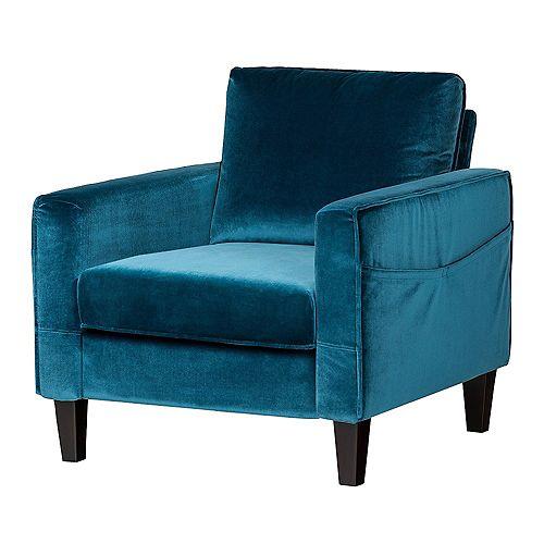 Live-it Cozy 1-Seat Sofa in Velvet Blue