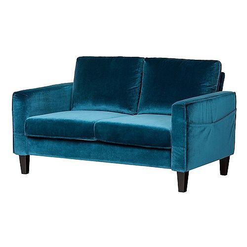 Live-it Cozy 2-Seat Sofa in Velvet Blue