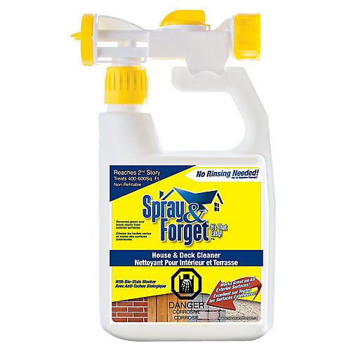 House & Deck Cleaner, Outdoor Mold Remover, w/ Hose End Sprayer 32 oz