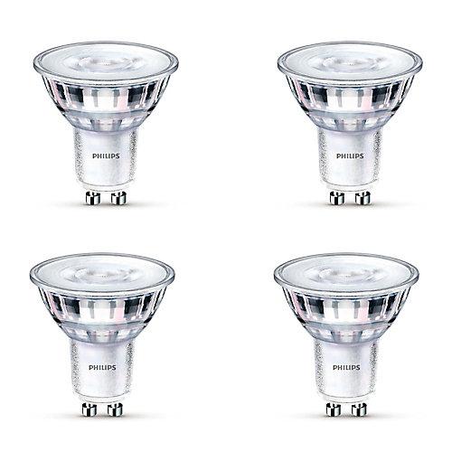 50W Equivalent Glass Daylight (5000K) GU10 LED Light Bulb (4-Pack)