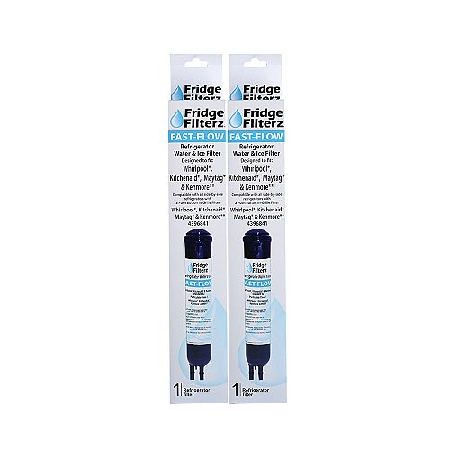 Fridge Filterz Fast Flow Replacement Water/Ice Filter for Whirlpool 4396841, PUR 2260515, KitchenAid & Maytag (2-Pack)