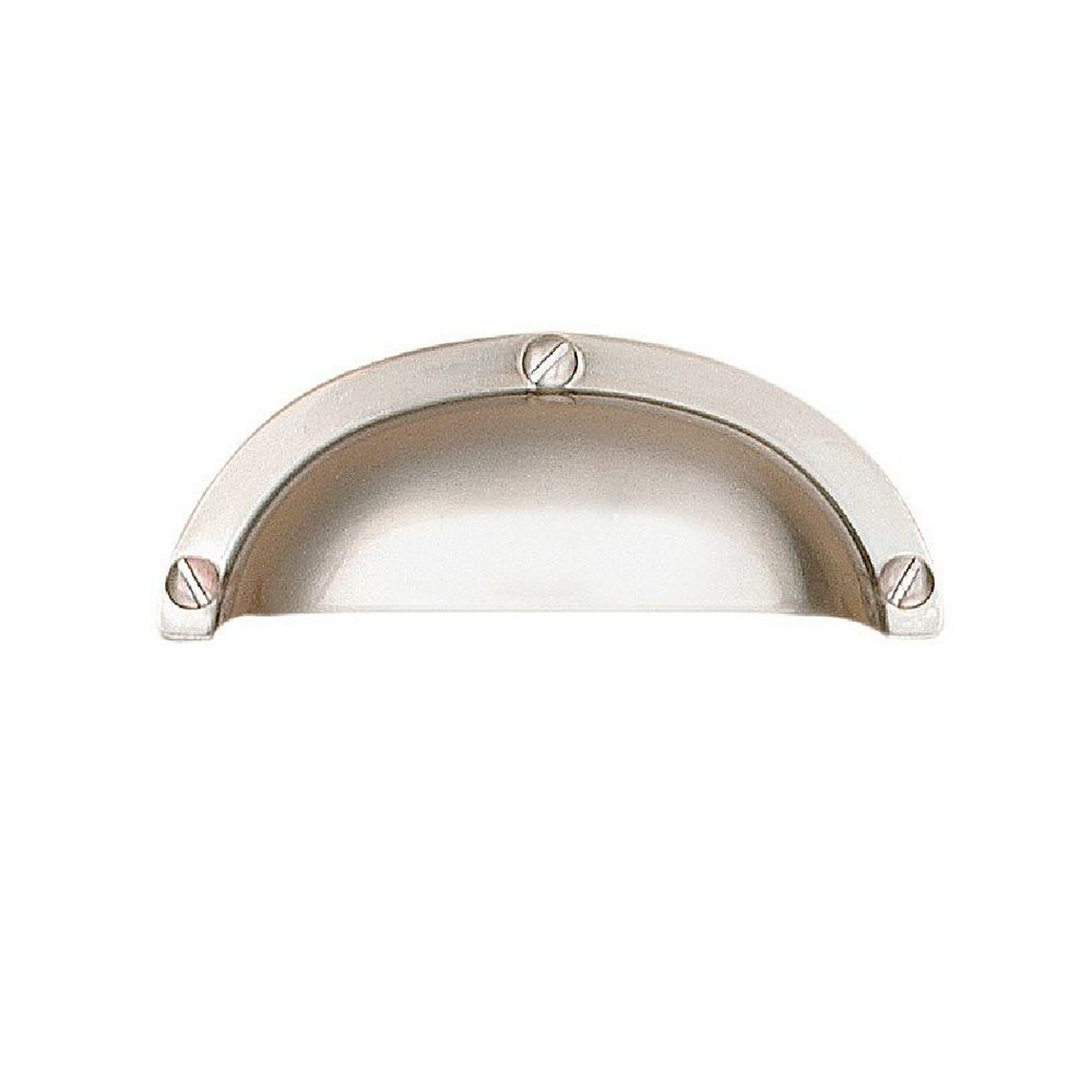 Richelieu Clinton Collection 2 17/32 in (64 mm) Center-to-Center Brushed Nickel Traditional Cabinet Pull