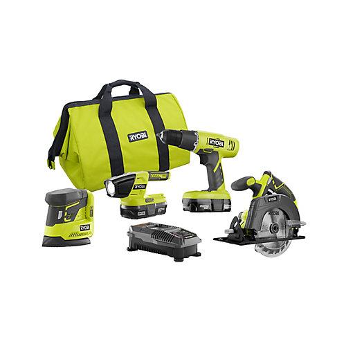 18V ONE+ Combo Kit (5-Tool) w/ Drill, Circlular Saw, Recip Saw, Sander, Light & (2) 1.3Ah Batteries
