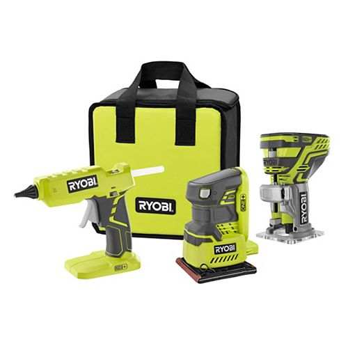 18V ONE+ Cordless Combo Kit (3-Tool) with Assorted ONE+ Tools (Tools Only)