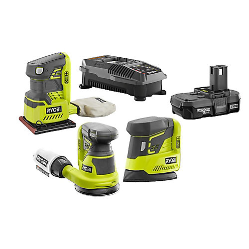 18V ONE+ Cordless Lithium-Ion Sanding Combo Kit (3-Tool) with (1) 1.3Ah Battery and Charger