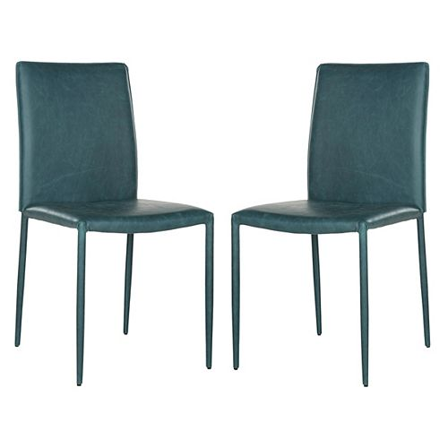 Safavieh Karna Dining Chair in Antique Teal - (Set of 2)
