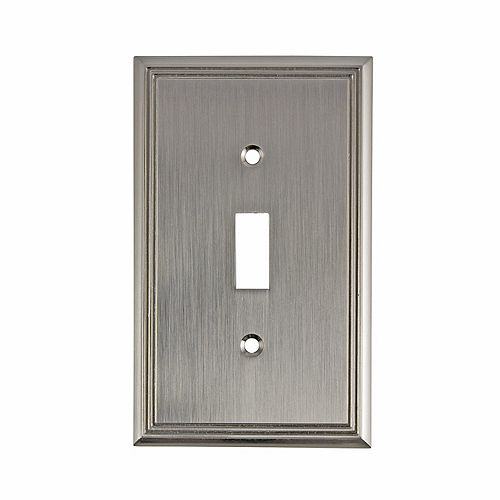 Switch Plate 1 Toggle Entry - Contemporary Style
