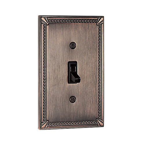 Switch Plate 1 Toggle Entry - Traditional Style