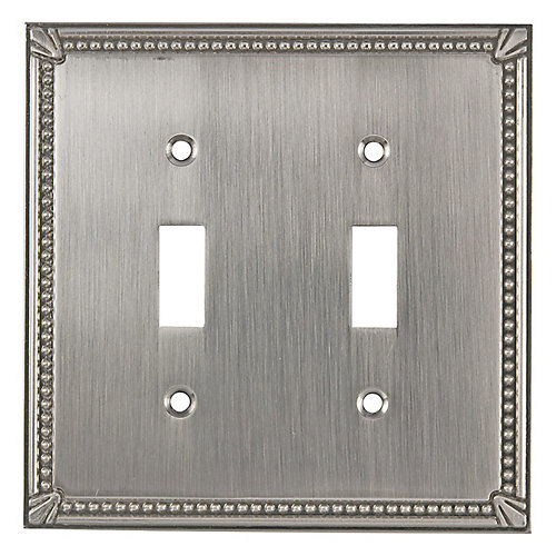 Switch Plate 2 Toggle Entries - Traditional Style