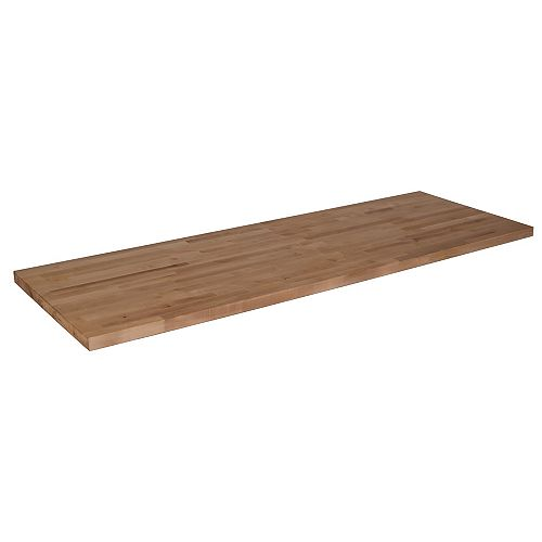 Hardwood Reflections 98-inch L x 25-inch W x 1.5-inch Thick Unfinished Birch Wood Butcher Block Countertop
