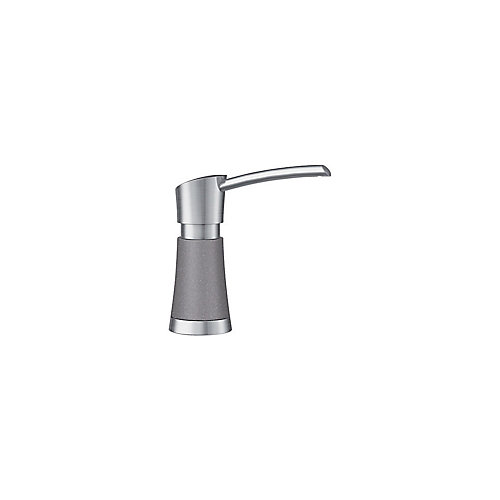 Artona Soap Dispenser - Stainless Steel and Metallic Gray Dual Finish