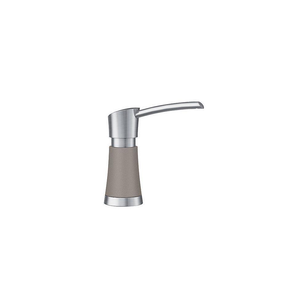 Blanco ARTONA Soap Dispenser, Stainless Finish/Truffle, (370 ml) 12.5 fl oz.