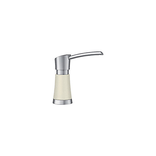 Artona Soap Dispenser - Stainless Steel and Biscuit Dual Finish