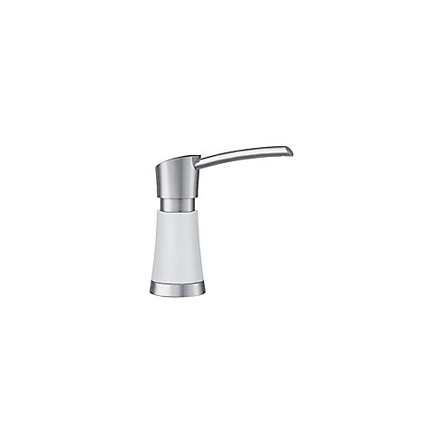 Artona Soap Dispenser - Stainless Steel and White Dual Finish