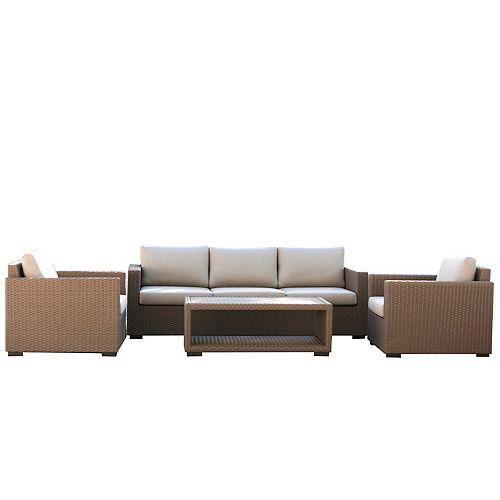 Palmetto 4-Piece Patio Lounge Set