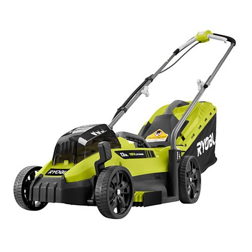 18V ONE+ 13-inch Lithium-Ion Cordless Battery Walk Behind Push Lawn Mower with 4.0 Ah Battery
