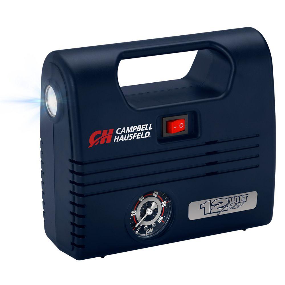 Campbell Hausfeld Gonflable 12 volts portable, avec LED intégré, 100 PSI et buses