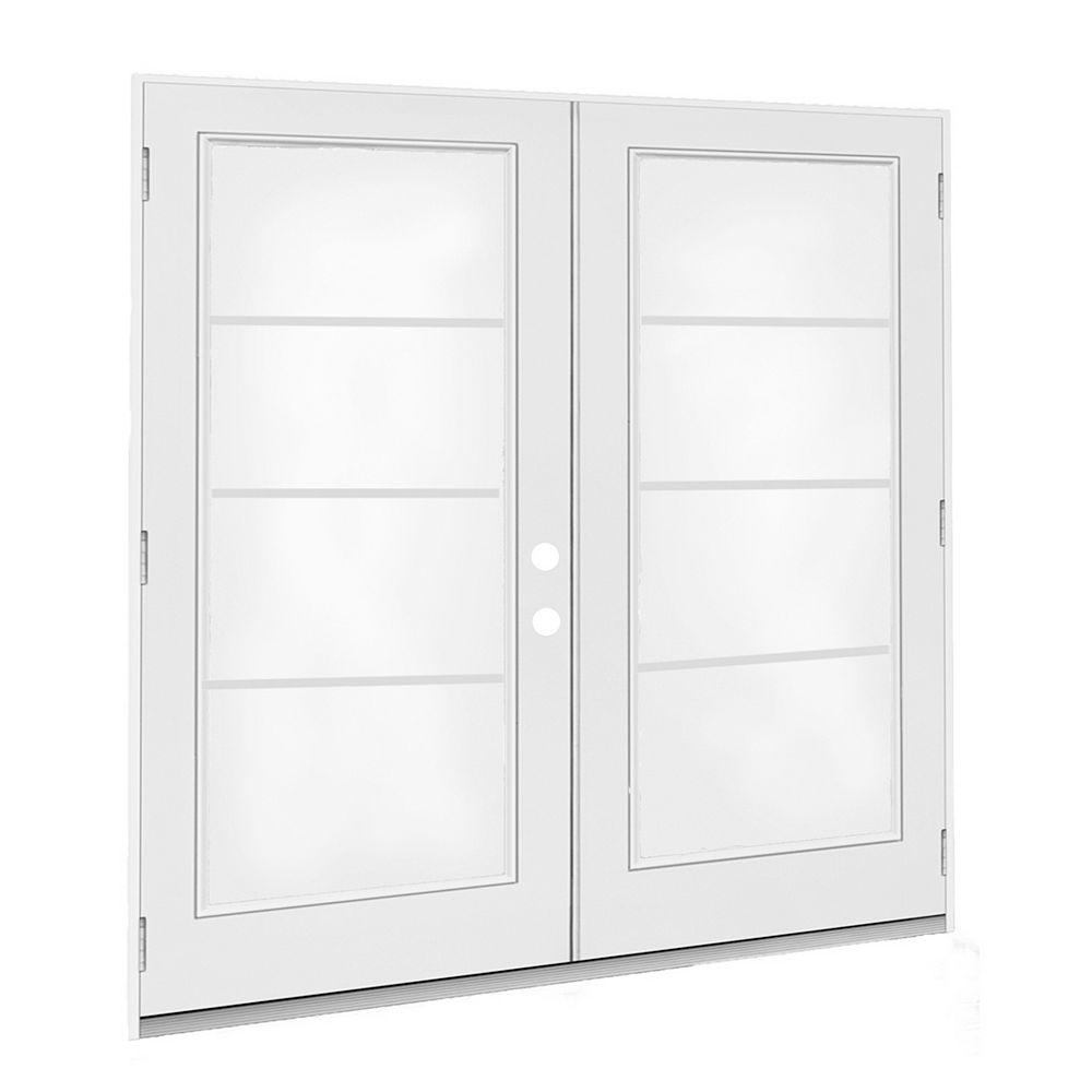 JELD-WEN Windows & Doors 6 ft. French Door, 4 Lite door glass, Low E argon, LH, outswing 4 9/16 East - ENERGY STAR®