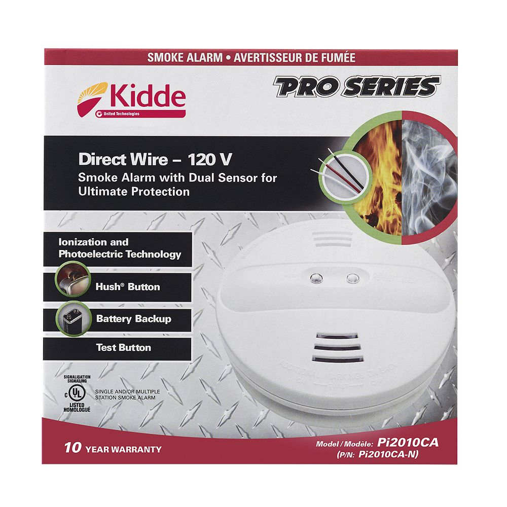 Kidde 120V AC Dual Sensor Smoke Alarm with 9V Battery Backup