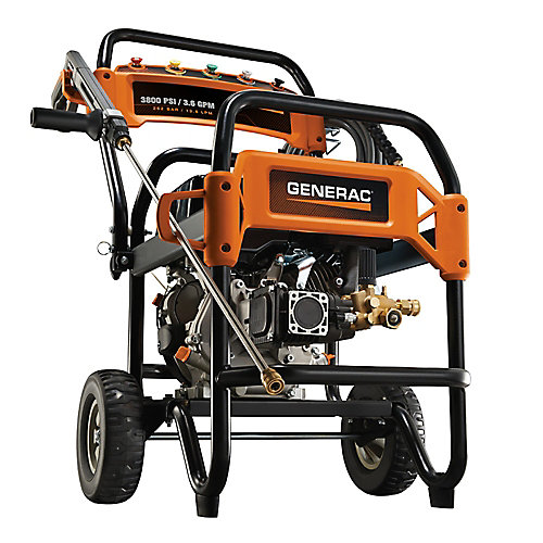 3,800 PSI 3.6-GPM OHV Engine Triplex Pump Gas Powered Pressure Washer