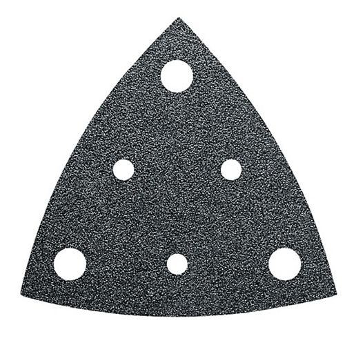 FEIN Perforated Triangular Sandpaper alu oxide grit 220 - (50-Pack)
