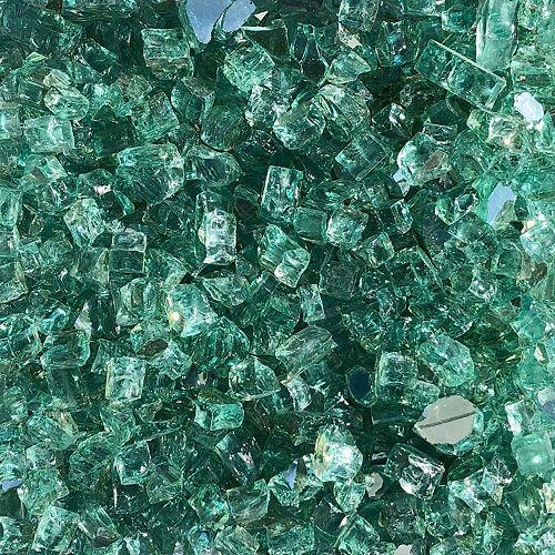 Paramount 10lb jars of Luminous Sea Green reflective fire glass (2-Pack)
