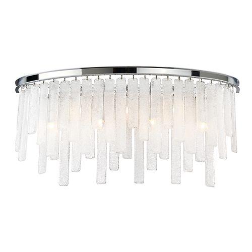 Eurofase Candice Collection, 7-Light Chrome Bath Bar