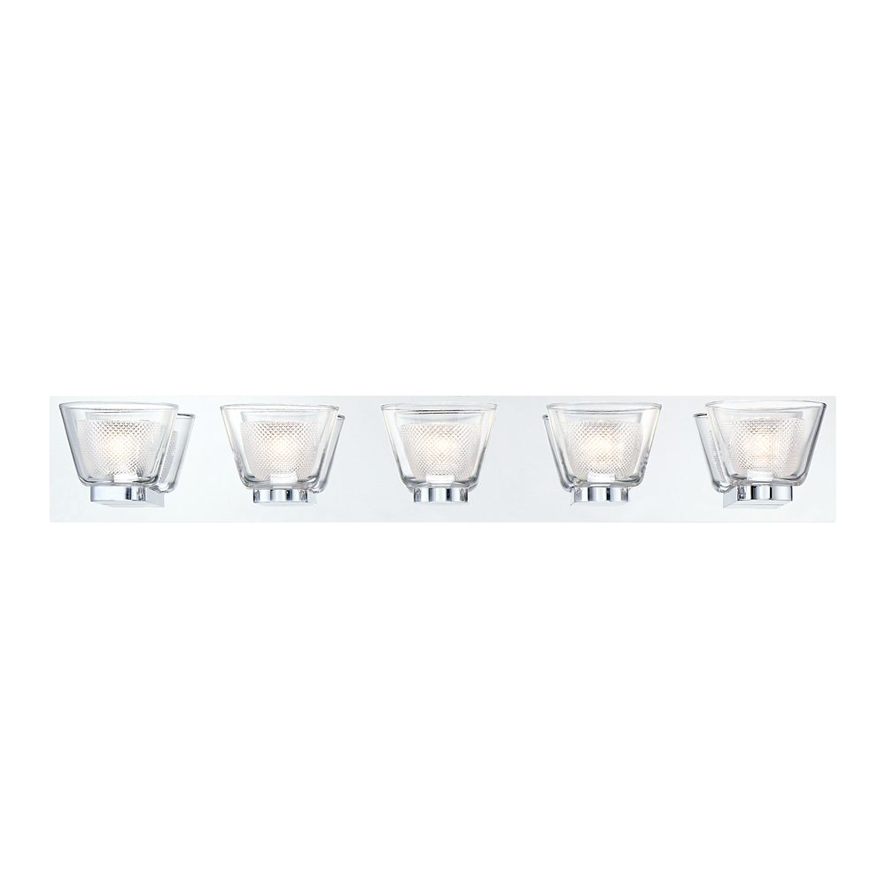 Eurofase Trent Collection, 5-Light LED Chrome Bath Bar