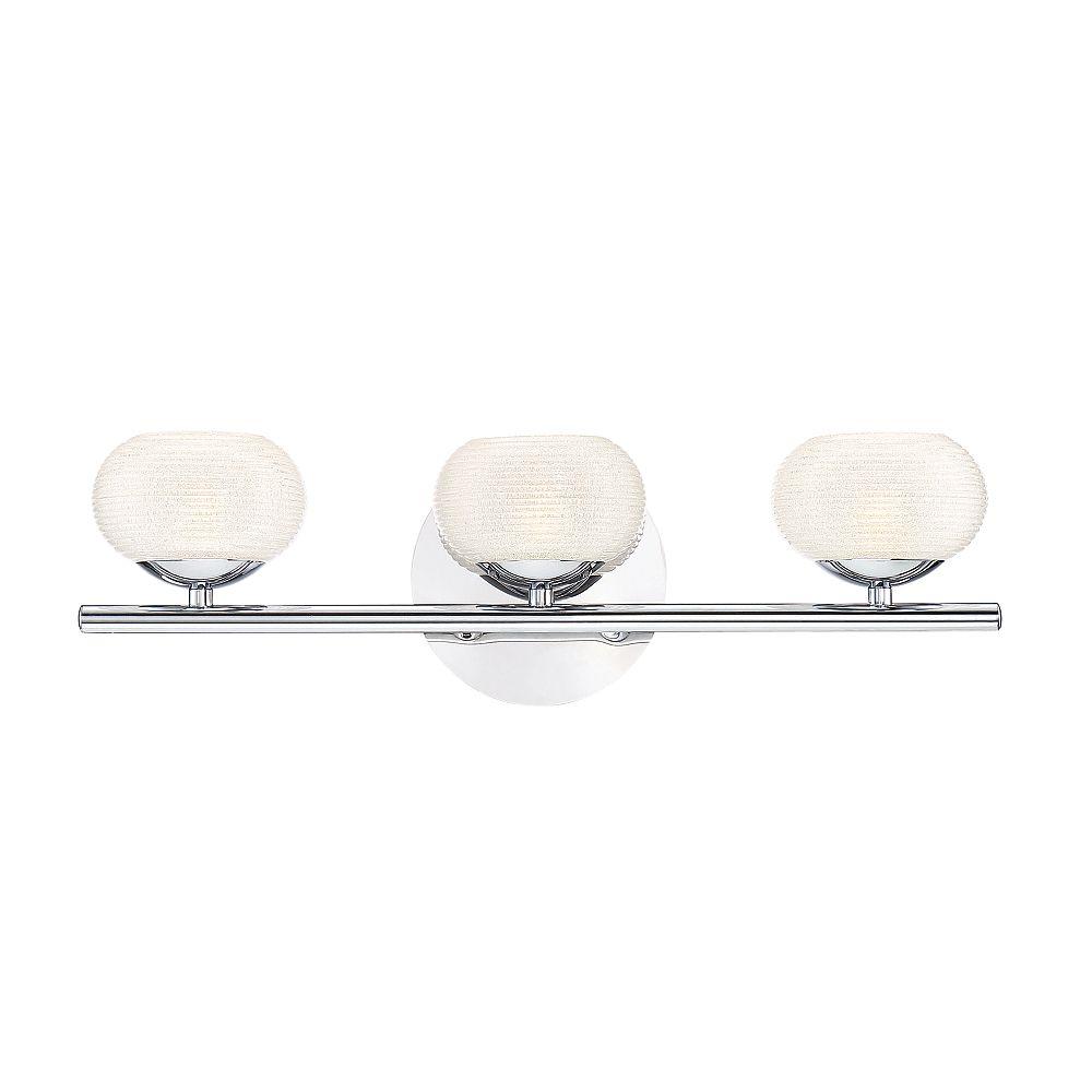 Eurofase Marche Collection, 3-Light LED Chrome Bath Bar