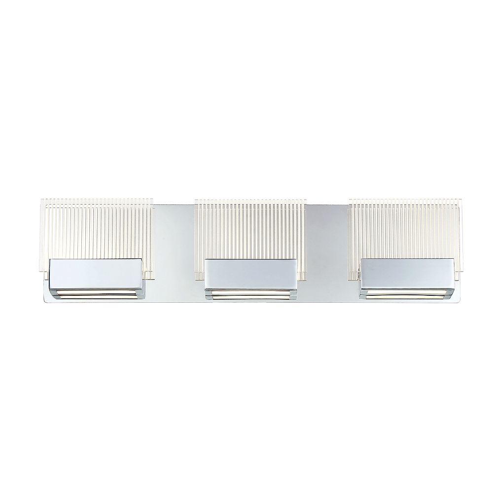 Eurofase Sonic Collection, 3-Light LED Chrome Bath Bar