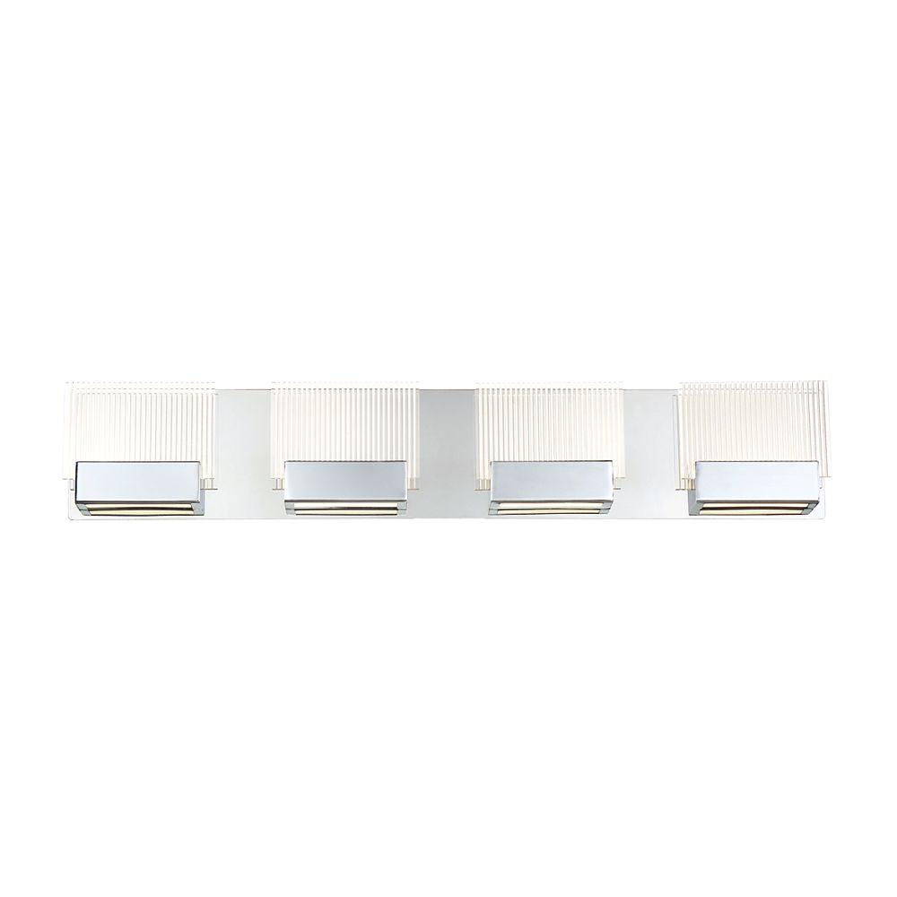 Eurofase Sonic Collection, 4-Light LED Chrome Bath Bar