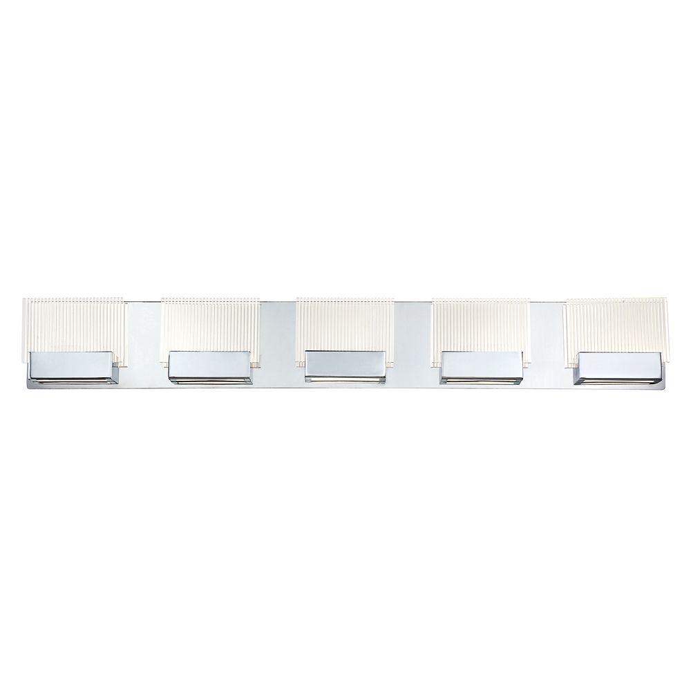 Eurofase Sonic Collection, 5-Light LED Chrome Bath Bar