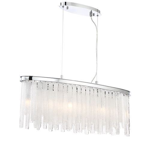 Eurofase Candice Collection, 9-Light Chrome Oval Chandelier
