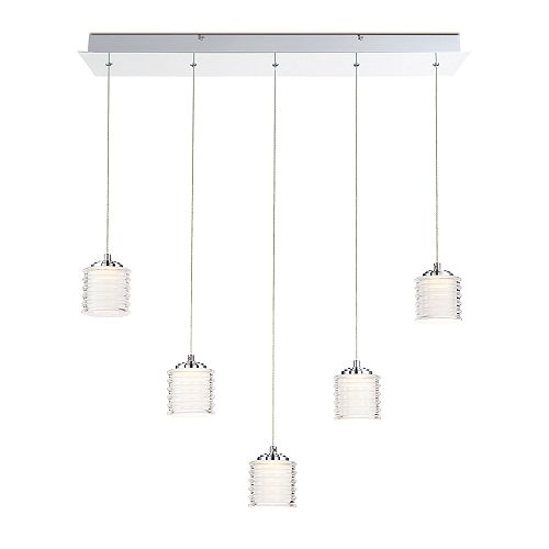 Ancona Collection, 5-Light LED Chrome Chandelier