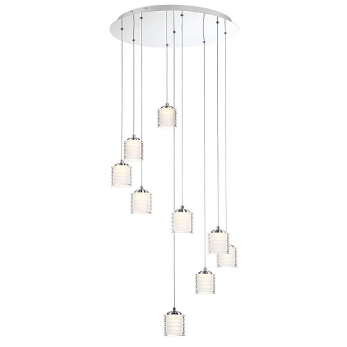 Eurofase Ancona Collection, 9-Light LED Chrome Chandelier